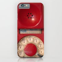 iPhone Cases featuring Hotline by bomobob