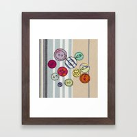 Embroidered Button Illus… Framed Art Print