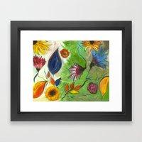 Flower Swirls Framed Art Print
