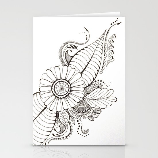 Delicate Floral Stationery Card