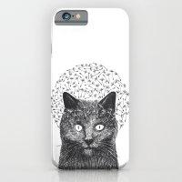 Dandelion black cat iPhone 6 Slim Case