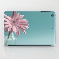 Pink Flower On Blue Back… iPad Case