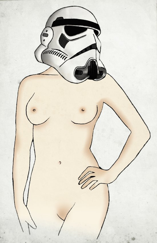 Sexy Stormtrooper - Star Wars Canvas Print