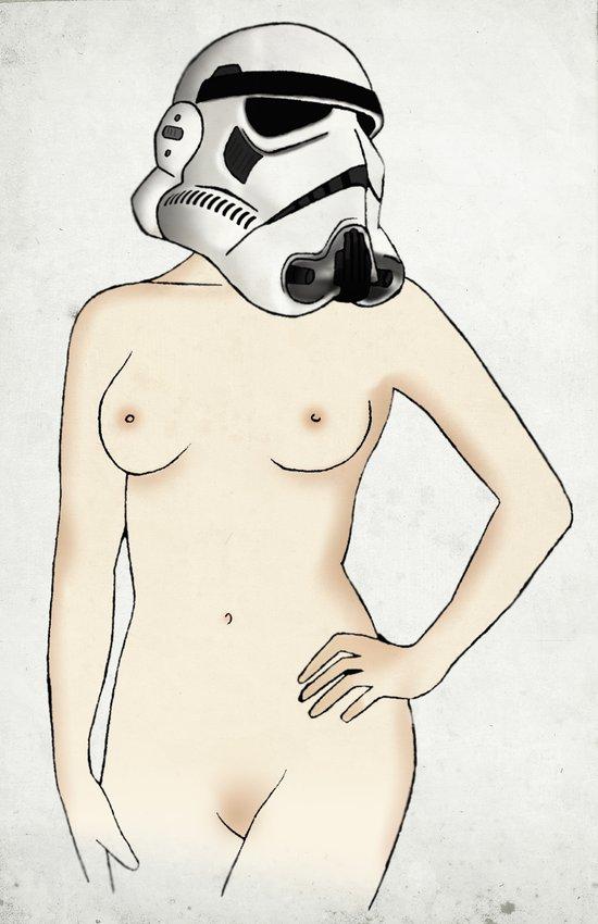 Sexy Stormtrooper - Star Wars Art Print