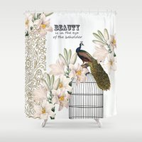 Beauty Peacock Shower Curtain