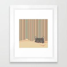 Kitty in the blanket Framed Art Print