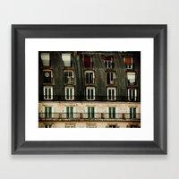 Parisian Windows. Framed Art Print
