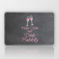 Keep Calm and Drink Bubbly (champagne flutes) Laptop & iPad Skin