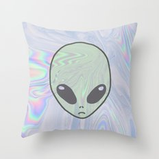 Alien Pastel Throw Pillow