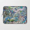 Venice Beach Bathroom Art Laptop Sleeve