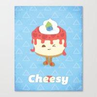 Cheese Cake Canvas Print