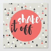 shake it off red Canvas Print