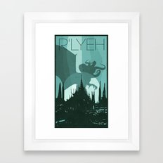 Every City Has Its Creature -R'lyeh Framed Art Print