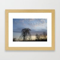 Willow on the Horizon Framed Art Print