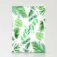 Leaf tropical pattern  Stationery Cards