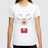 Disney - Mickey Mouse Womens Fitted Tee Ash Grey SMALL
