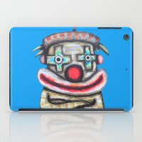 Clown with small advertisement iPad Case