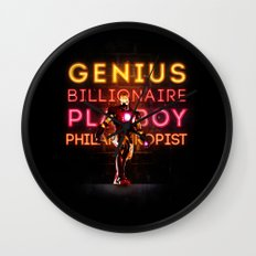 Iron Man: Genius Billionaire Playboy Philanthropist Wall Clock