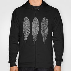 Patterned Plumes - White Hoody