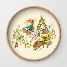 Critters: Summer Gardening Wall Clock