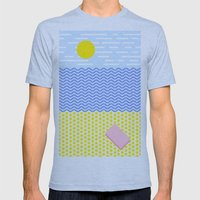 The Beach Mens Fitted Tee Athletic Blue SMALL