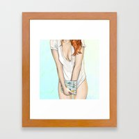 My Morning with Charley Framed Art Print