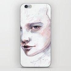 Frozen, quick watercolor portraiture iPhone & iPod Skin