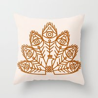 Cosmic Peacock Throw Pillow