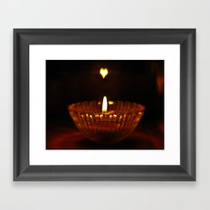 Flaming heart Framed Art Print