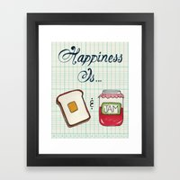 Happiness Is Toast & Jam Framed Art Print