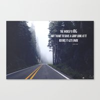 The World Is Big Canvas Print