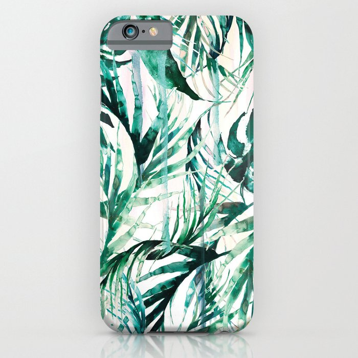 green tropical paradise iphone amp ipod case by nikkistrange