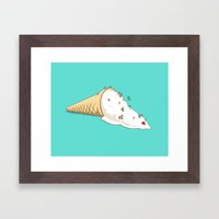 Ant Ski Framed Art Print