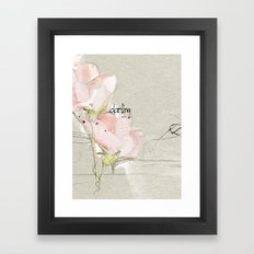 soft magnolia Framed Art Print