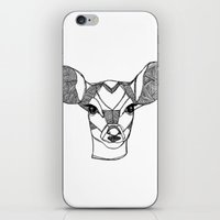 Monochrome Deer By Ashle… iPhone & iPod Skin