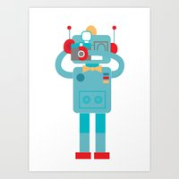 Robot loves Diana Art Print