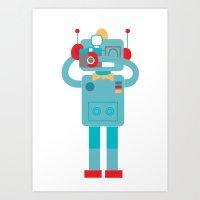 Robot Loves Diana Art Print