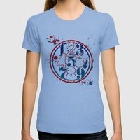 Droppingattitude Womens Fitted Tee Athletic Blue SMALL