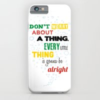 iPhone & iPod Case featuring Don't Worry about a Thing by Lee Grace Illustration