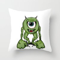Mean Mike Throw Pillow