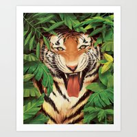 Guardian Of The Jungle Art Print