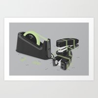 Tape is stronger Art Print