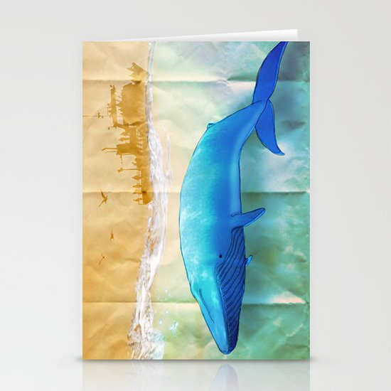 the beauty beneath _ humpback whale Stationery Card
