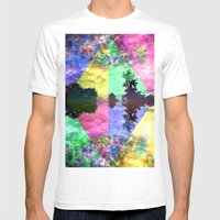 Stirring Starry Night Mens Fitted Tee White SMALL