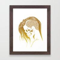 Skull Girls 2 - Royal Gold Framed Art Print