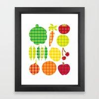 Gingham Goods Framed Art Print
