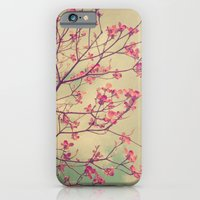iPhone & iPod Case featuring Vintage Pink Dogwood Tree in Flower by V. Sanderson / Chickens in the Trees