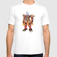Mecha Owl Mens Fitted Tee White SMALL