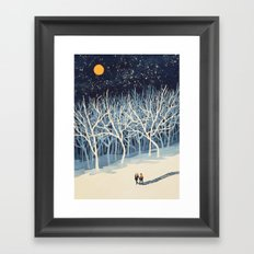 If On A Winter's Night Y… Framed Art Print
