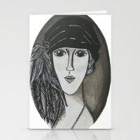 Bright Eyed Girl Stationery Cards